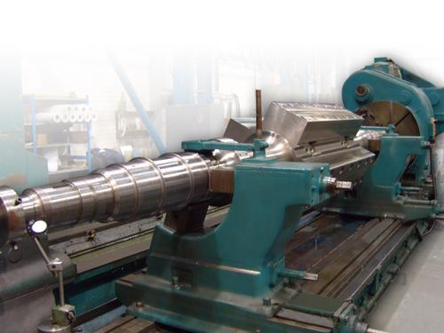 Precision machined 7.4 tonne rotor