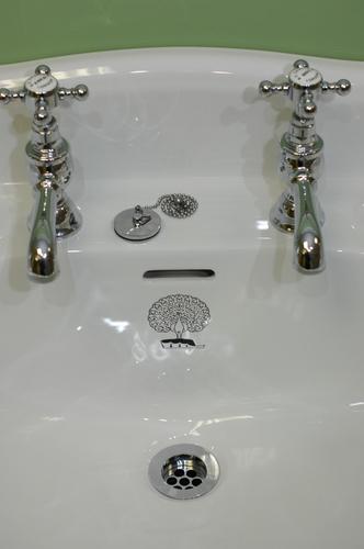 Monogrammed basin from B C Sanitan
