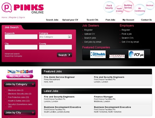 New Pinks Job Board Site