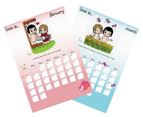 Love Is...Calendar Spread