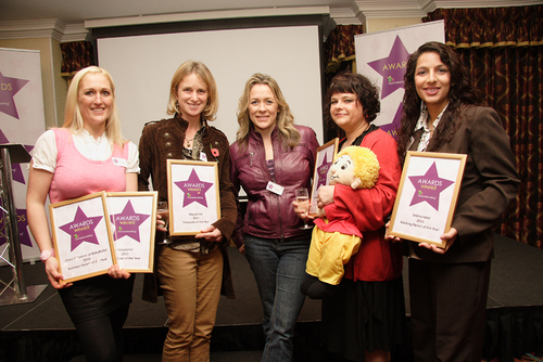 Sarah Beeny and the award winners