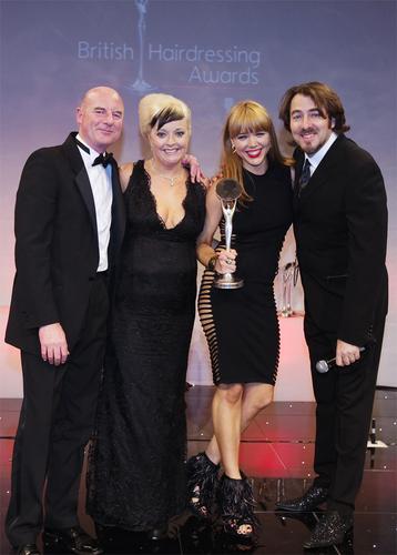 Skyler McDonald receiving her award
