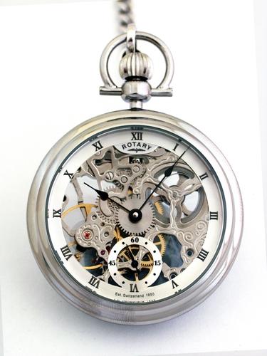 Men's Rotary Pocket Mechanical Watch