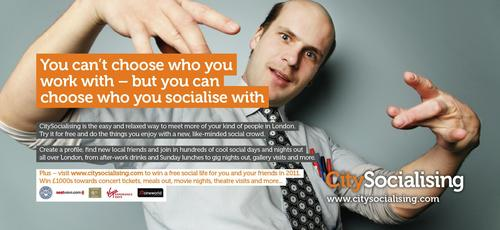 CitySocialising tube ad