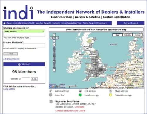 Indi Map search