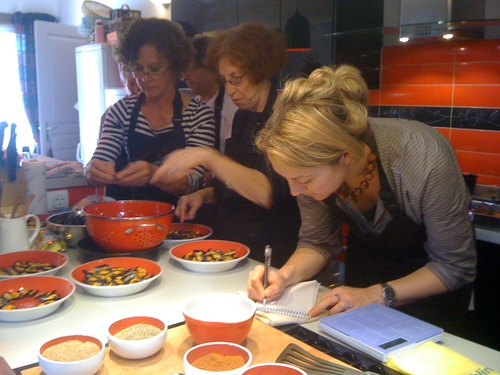 Cooking in France - guests get started