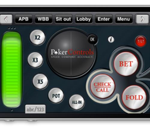 Poker Controls iPhone App Screen