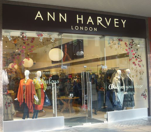 ANN HARVEY LONDON STORE FRONT