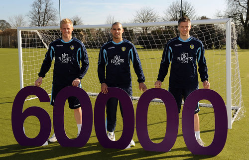 Leeds United FC players pledge purple