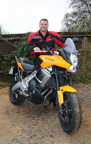 Darren Gough and his new Kawasaki Versys