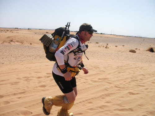 Mike Running the 2011 MdS