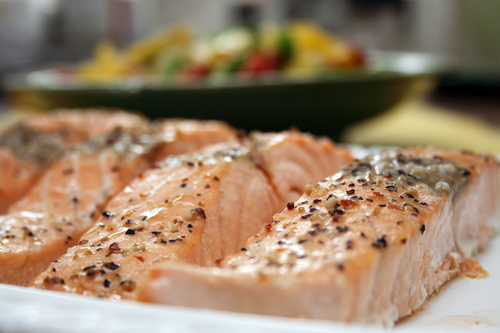 BAKED SALMON FOR THE BBQ- LOSELEY BUTTER