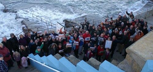 Bude Sea Pool Protest