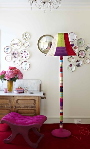 British Wool - Knitted Lamp