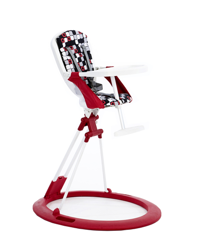 Little Helper Zooper High Chair in Red