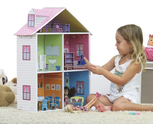 Krooom Dolls house with furniture