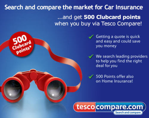 Collect 500 Tesco Clubcarrd Points