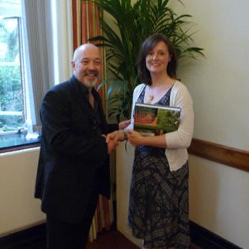 Andrew Wilson awards Ruth Ayoubi