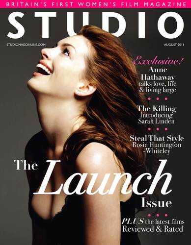 Anne Hathaway covers STUDIO Launch Issue