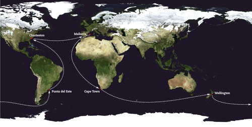 Global Ocean Race (2011-12) route