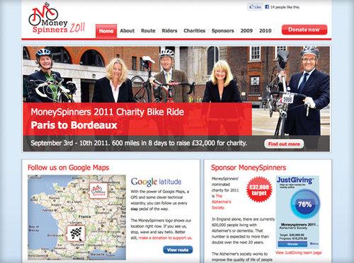 MoneySpinners 2011 homepage