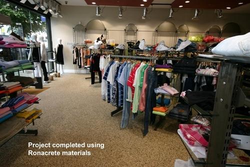 Stone carpet used at fashion retailer's