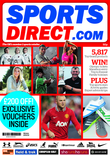 Sports Direct Christmas catalogue 2011