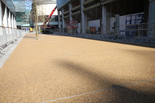 Resin bound surfacing laid at Westfield