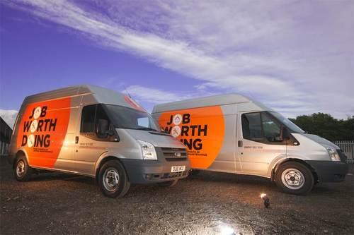 New branded Job Worth Doing vans