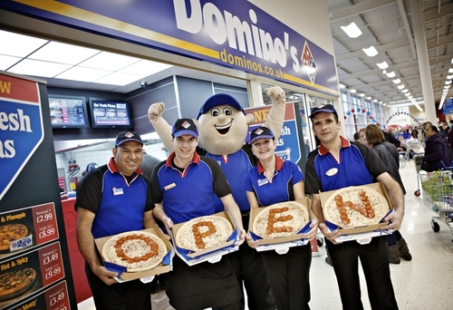 Domino's first store in Tesco