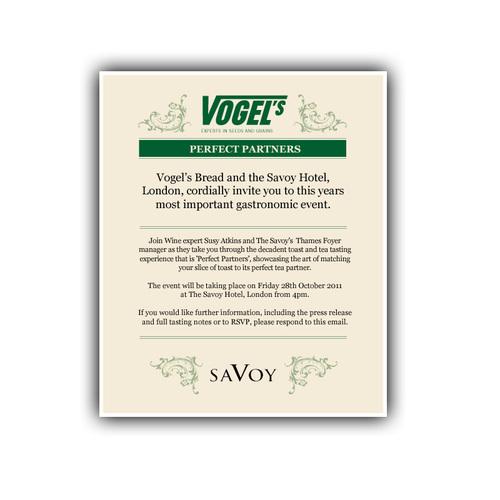 Invitation from Vogel's bread