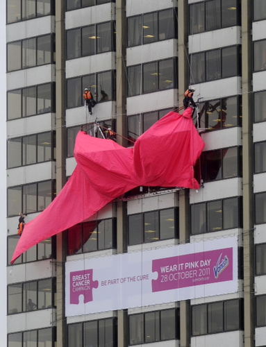 World's biggest bra, wear it pink day