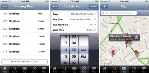 London Bus Stop App screenshots