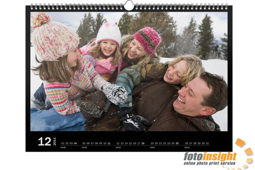 Personalised photo paper calendars