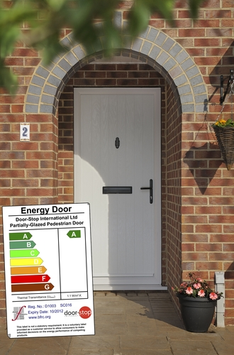 'A' rated door with energy certificate