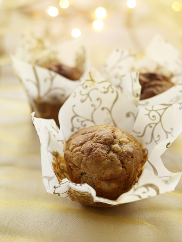 Dairy-free apple and spice muffins