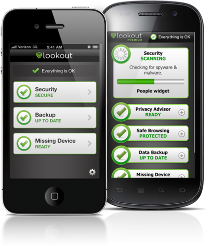 Lookout for Android + iPhone