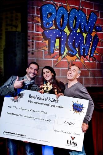 Boom-Tish winner Andrea Hubert