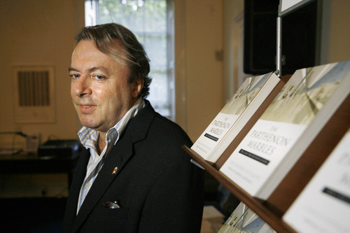 Christopher Hitchens at the launch