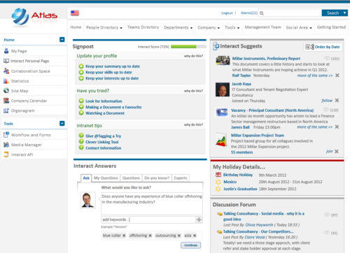 Interact Personal Page on Version 5