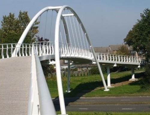 Bracknell's footbridge on Mill Lane