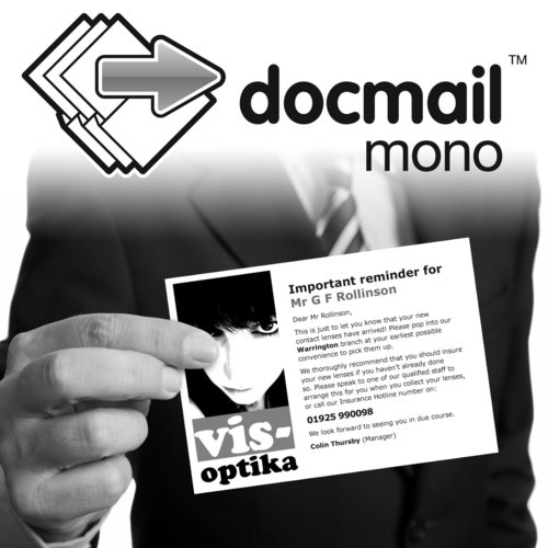 Docmail Mono Postcard
