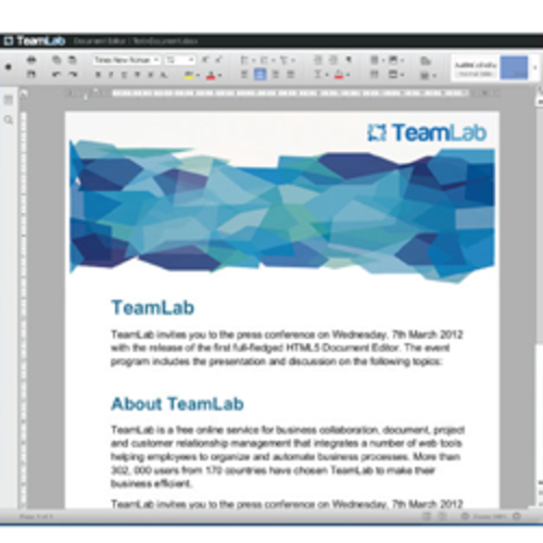 TeamLab Document Editor
