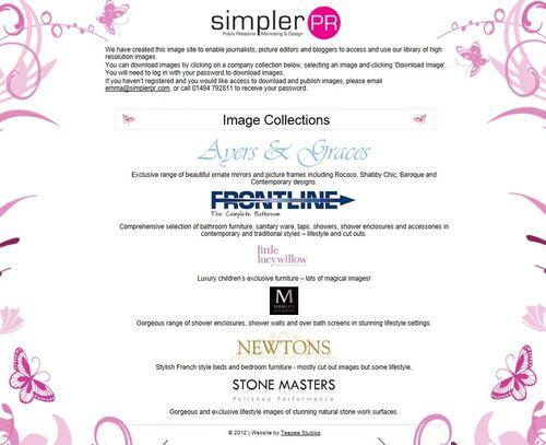 Simpler PR Image Library Homepage