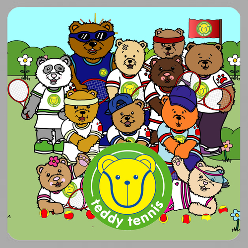 Teddy Tennis Sticker Book Icon