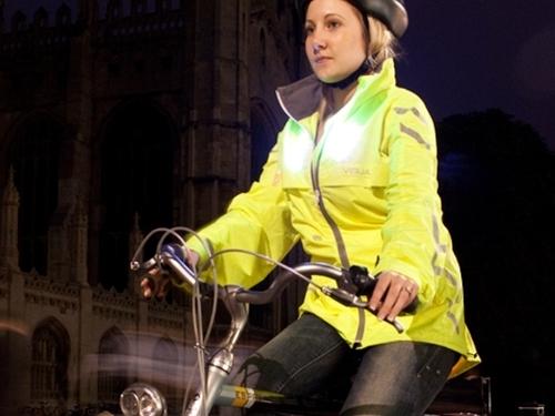 Cyclist wearing Visijax