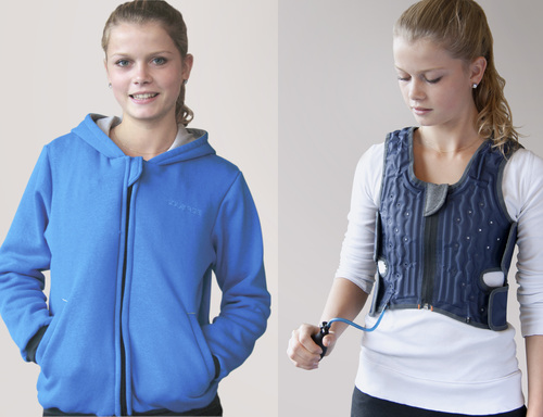 SQUEASE pressure vest and hooded top