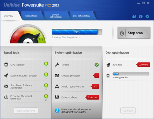 Uniblue Powersuite 2013 Overview