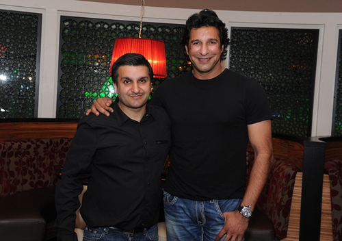 Fukhera Khalid and Wasim Akram