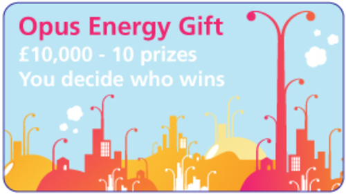 Voting button for Opus Energy Gift